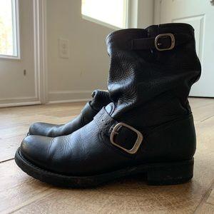 Frye slouchy biker boot